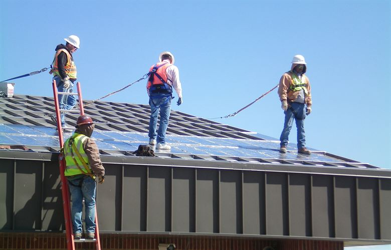 professional roofers are full equipped for roof replacement