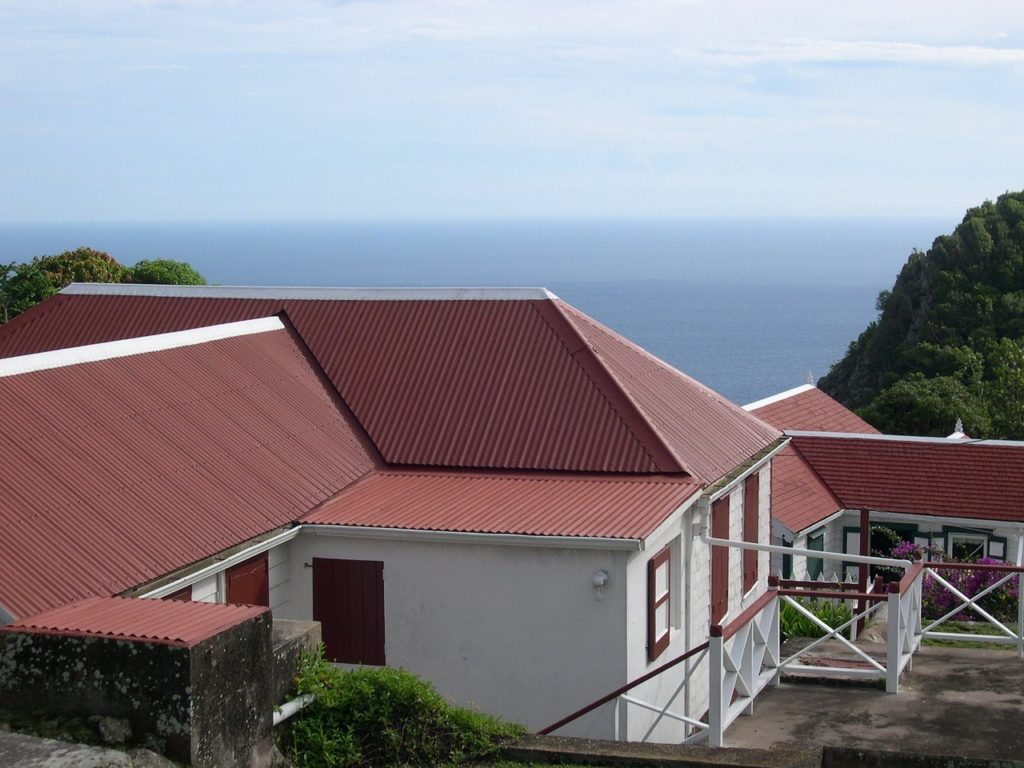 red color metal roof