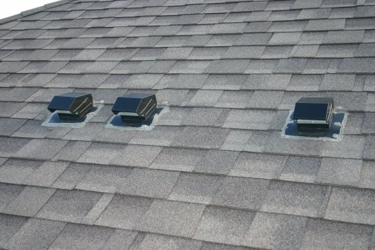 exhaust vents on roof