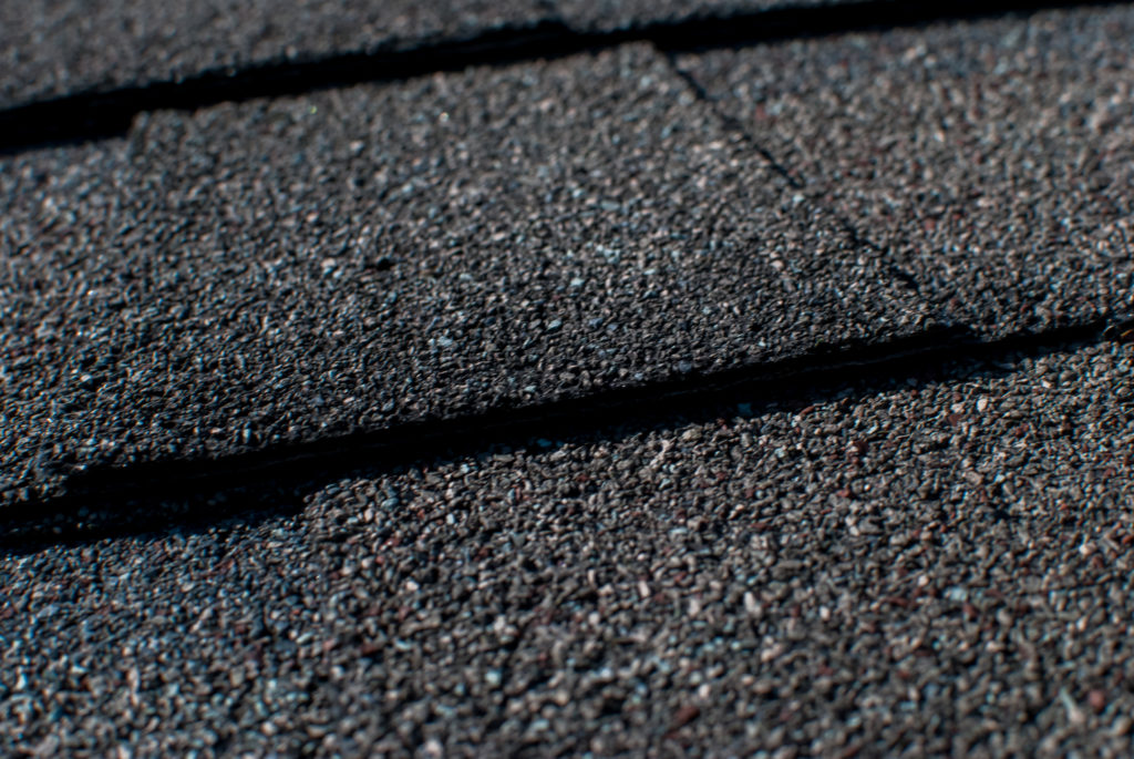 different texture of asphalt shingle