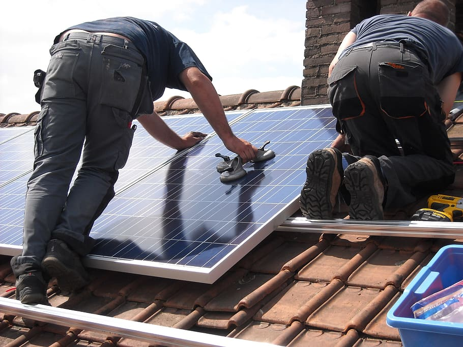 solar panel installation by professionals