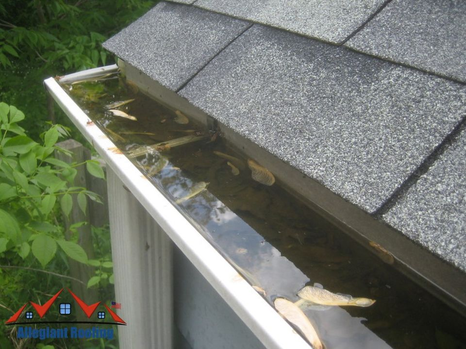 keep the gutters on the roof clean to avoid mold and algae growth